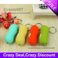 Wholesale Best Sale Cute Led Simulate Peanut Lights Keychain Key Chain Flash Light FlashLight Led Gift