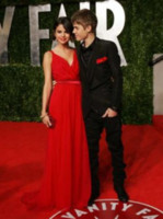 Chiffon selena gomez - Justin Bieber and Selena Gomez Oscar party of Vanity Fair red Long Prom Dresses bestoffers OS001