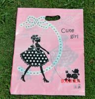 al por mayor niñas ropa de plástico-Forme el bolso plástico del bolso del bolso de los bolsos del regalo de la muchacha 30 * 40cm (11.8