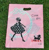 achat en gros de vêtements plastique filles-Mode 100pcs fille mignonne 30 * 40cm (11,8