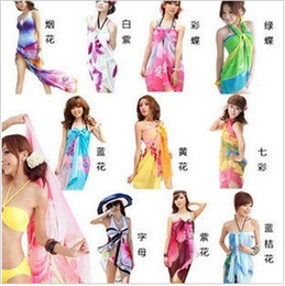 Wholesale New Chiffon Sexy Wrap Dress Sarong Beach Cover Up Scarf Swimwear Ladies Sun Beachwear