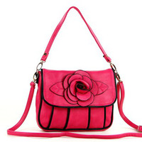 Wholesale New Vintage Leather new women rose flowers handbag women hand bag fashion hand bag NQ4