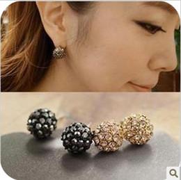 Wholesale Shamballa Earrings Golden And Black Beautiful Diamond Earring Earrings Fashion Accessories
