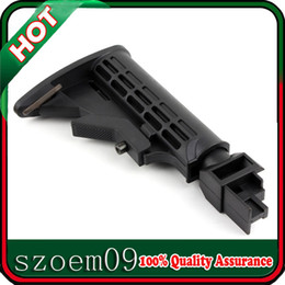 Wholesale 6 Position Solid Locking Collapsible Black Butt Stock Fit For AK Series