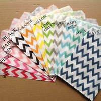 Wholesale 11 chevron color quot x7 quot cm x cm Wedding party favor Bags Candy Paper Goods Bag kraft bags