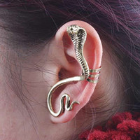 Wholesale 12pcs Gothic ear stud punk ear hook alloy ear cuff retro ear clips SNAKE wrap earrings jewelry E005