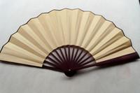Wholesale Plain Color DIY Hand Fans Chinese Silk Fan Folding Decorative Fans Dance Fan Free