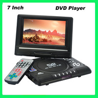 Wholesale 7 Inch Widescreen Swivel Screen Portable Multimedia DVD EVD TV Player card reader usb game creative