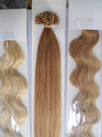 black straight 1.0g 20inch 100g 1g s dark blonde ITALIAN keratin remy prebonded Flat Tip Hair Extensions INDIAN HUMAN HAIR