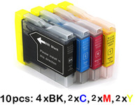 Wholesale 10 Ink Cartridges for Brother LC37 LC57 LC960 LC970 LC1000 MFC CN CN CN DCP C C