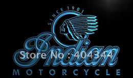 Wholesale LG190 TM Indian Motorcycle Services Logo Neon Light Sign Advertising led panel
