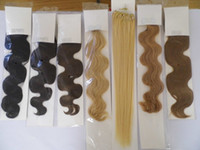 Wholesale 18 quot quot quot wavy remy Micro Rings Loop Hair Extensions INDIAN HUMAN g