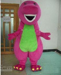Wholesale Profession Barney Dinosaur Mascot Costumes Halloween Cartoon Adult Size Fancy Dress
