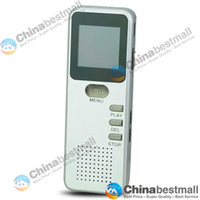 Wholesale GH Digital Voice Recorder with GB USB Telephone Recording LCD Screen Dual Microphone Silver