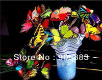 Wholesale 20pc Cute Artificial Butterfly with a wire Wedding Cake Topper Favor cm