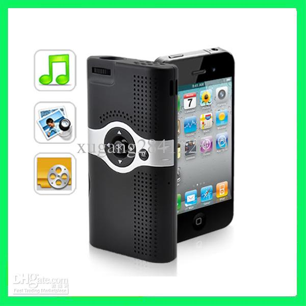 Portable hd cinema projector micro mini led 6 lumens for Best portable projector for iphone 6