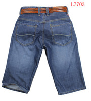 Wholesale Cheap price Men Casual Jeans Straight short jeans Custom FIt Male desgner short jeans with tag