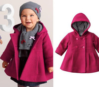 Girl 0-2year  80 90 100 Wholesale - - Baby coats girls' overcoat jacket kids' dresses hoodies Christmas coats Loose coat