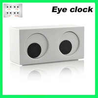 Wholesale New Cute Eye Clock Rotating Iris Novelty Desk Display Clock Novelty Desktop Gadget cute toy