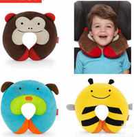 Wholesale New Fashion Baby Pillows Skap Hp Baby Owl Bee Pillows Treetop Tree Top Forest Friend Zoo Owl Travel Head Neck Rest Pillows u pick color free
