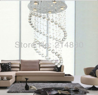 Wholesale holiday sales K9 crystal dia H800MM crystal chandelier modern chandelier lamp LED spot light