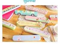 Metal Pencils Zhejiang China (Mainland) Free Shipping New fashion designs Tin Pencil case Pen box Fashion Wholesale