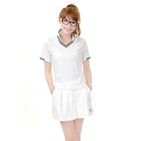 Wholesale 2012 spring and summer women s casual women s bordered short sleeve tennis shirt tennis ball set