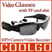 Wholesale 4 in Sunglasses MP3 Player Bluetooth GB Hidden Spy Camera Digital Video Recorder DVR