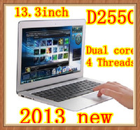 Wholesale DHL stable Laptop inch notebook computer i3 laptop PC D2550 D2500 Ghz gb GB WIFI HDMI