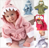 Towels L ,M  Yellow Children's baby clothing Thick Cartoon animal models baby bathrobe bath robe bath towel cape cloak