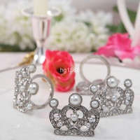 Wholesale Silver imperial crown pearl Napkin Ring in box box in box