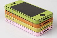 Wholesale 100pcs Multicolor Skin Sticker for iPhone4 S Anti Scratch Protective for iphone S G Colors Available