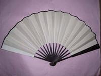 white hand fans - Blank White Fans DIY Hand Fan China Fans Silk Folding Fans Free