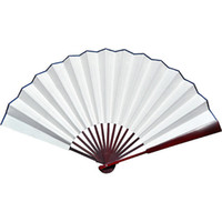 Wholesale Blank White Hand Fan DIY Program Fans Chinese Silk Fan Folding Fine Art Painting Fans Free