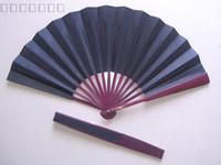 Wholesale Large Plain Black Hand Fans DIY Silk Fan Chinese Folding Fans Fine Art Painting Fan Free