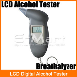 Wholesale LCD Digital Alcohol Tester Key Chain Breathalyzer Breath Analyze