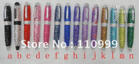 rhinestone pen - Hot Sale Handmade crystal rhinestone pen crystal bling ball pen Colors Ch