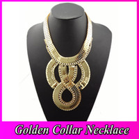 Wholesale Trail Order Silver Collar Neclace Chunky Clear Rhinestone Snake Wide Chain Flat Curb Bib Necklace