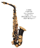 Wholesale wind music instrument wood wind music instrument Alto Saxophone Black Body Golden Key