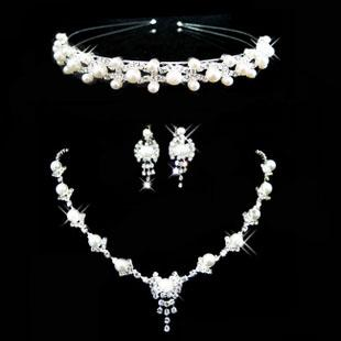 Cheap bridal jewelry set wedding brdal tiara and pearl for Bridesmaid jewelry sets under 20