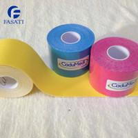 Wholesale 100pc CM M kinesiology Kinesio Tape Pure cotton Ventilatior Waterproof Sports tapeNational athlete