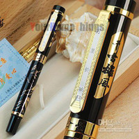 Calligraphy & Fountain Pens 0.5mm Shanghai China (Mainland) JINHAO BLACK AND GOLDEN ROLLER BALL PEN CHINA GREAT WALL WITH ORIGINAL BOX FREE SHIPPING