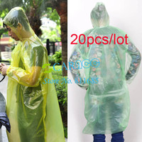 Wholesale HOTSALE set Disposable rain coat Emergency Hood Poncho Raincoat Freeshipping
