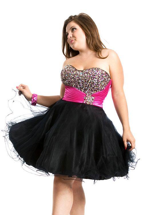 Pink Black Cocktail Dresses - Ocodea.com