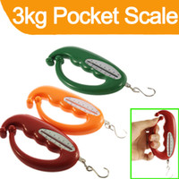 Pocket Scale 1kg-10kg  Portable 3Kg 3000g Pocket Scale Bag Handle Hand Weight for Grocery Shoppers Home
