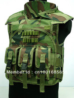 Wholesale Airsoft Paintball Tactical Combat Assault Vest Camo Woodland
