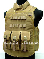 Wholesale Airsoft Paintball Tactical Combat Assault Vest Coyote Brown