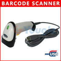Wholesale New White USB XYL POS Laser Barcode Scanner Bar Code Reader Decoder