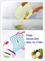 Wholesale 100 EMS Cut fruit plate Ultra thin Chopping board Health chopping board size Xmas gift