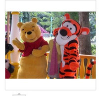 Mascot Costumes tigger - Lovely Tigger and Winnie the pooh Mascot Costume Adult Size Cartoon Mascot Animal Apparel